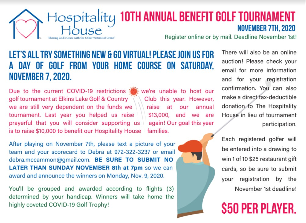 10th Annual Benefit Golf Tournament Flyer